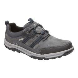 Men's Rockport Trail Technique Waterproof 3-Eye Hiking Shoe Castlerock Grey Synthetic Mesh