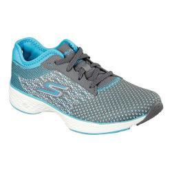 Women's Skechers GOwalk Sport Walking Shoe Charcoal/Turquoise