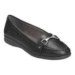 Women's A2 by Aerosoles Time Limit Loafer Black Faux Leather