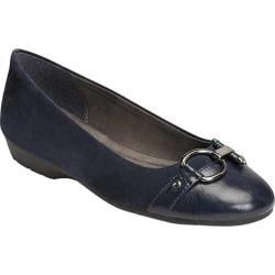 Women's A2 by Aerosoles Ultrabrite Flat Navy Faux Leather/Faux Suede
