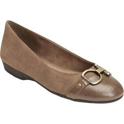 Women's A2 by Aerosoles Ultrabrite Flat Taupe Faux Leather/Faux Suede