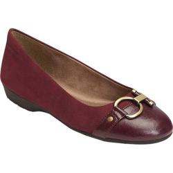 Women's A2 by Aerosoles Ultrabrite Flat Wine Faux Leather/Faux Suede
