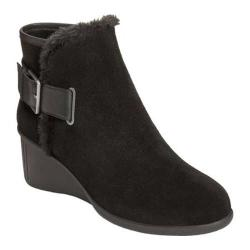 Women's Aerosoles Gravel Ankle Boot Black Suede