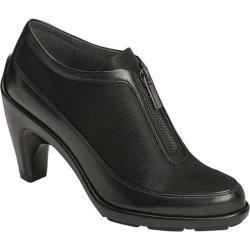 Women's Aerosoles Preview Bootie Black Faux Leather/Mesh