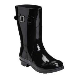 Women's Aerosoles Rain Date Rain Boot Black Rubber