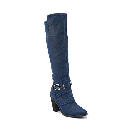 ec8f34a55c30 Shop Women s Fergie Footwear Dune Riding Boot Navy Blue Suede - Free  Shipping Today - Overstock - 12422454