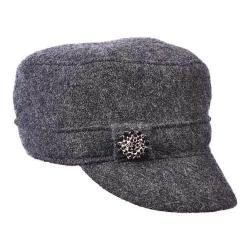 Women's Scala LW612 Boiled Wool Cadet Hat Charcoal