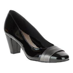 Women's Soft Style Mabry Pump Black Patent/Dark Pewter Vitello
