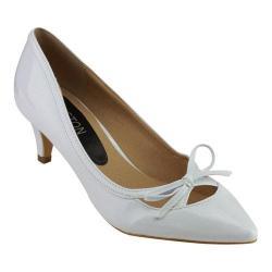 Women's Wild Diva Aubree-17-FE Bow Pump White Patent Faux Leather