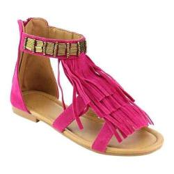 Girls' Wild Diva Favorite-10K Ankle Strap Sandal Fuchsia Faux Leather