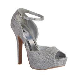Women's Wild Diva Gaze-442-EL D'Orsay Shoe Silver Faux Leather