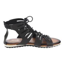 Women's Wild Diva Juliana-13-JA Gladiator Sandal Black Faux Leather