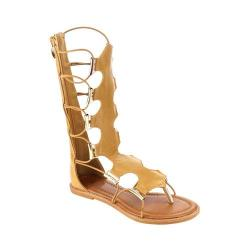 Girls' Wild Diva Katia-5K-FE Gladiator Sandal Tan Faux Leather
