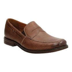 Men's Clarks Holmby Step Loafer Brown Goat Full Grain Leather