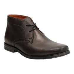 Men's Clarks Holmby Top Chukka Boot Black Goat Full Grain Leather