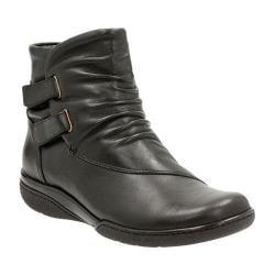 Women's Clarks Kearns Burst Slouch Boot Black Warm Lined Cow Full Grain Leather
