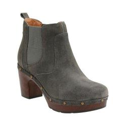 Women's Clarks Ledella Star Clog Chelsea Boot Dark Grey Cow Suede