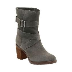 Women's Clarks Malvet Doris Buckle Bootie Dark Grey Cow Suede