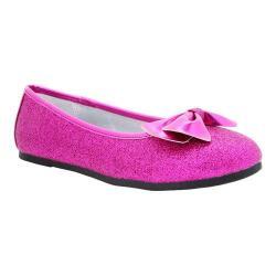Girls' Nina Hazelle Ballet Flat Berry Baby Glitter/Metallic