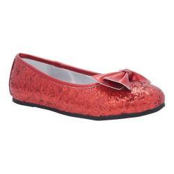 Girls' Nina Hazelle Ballet Flat Red Chunky Glitter