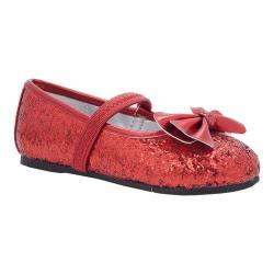 Girls' Nina Hazelle-T Ballet Flat Red Chunky Glitter