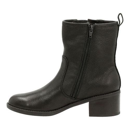 Women's Clarks Nevella Devon Low Boot Black Leather - Thumbnail 2