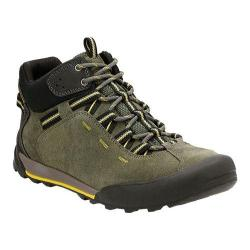 Men's Clarks Outlay Roam Hiking Boot Olive Cow Suede