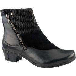 Women's Earth Orion Zip-Up Bootie Black Calf And Suede