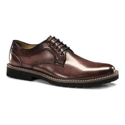 Men's Dockers Baldwin Plain Toe Derby Burgundy Pull-up Full Grain Leather