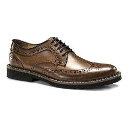 Men's Dockers Benfield Wingtip Derby Tan Burnished Crazy Horse