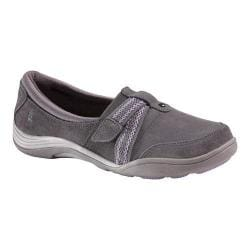Women's Grasshoppers Chase Alternative-Closure Slip-On Steel Grey Suede