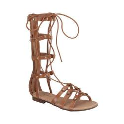 Girls' Wild Diva Alyssa-16K-FE Gladiator Sandal Tan Faux Leather
