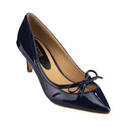 Women's Wild Diva Aubree-17-FE Bow Pump Navy Patent Faux Leather