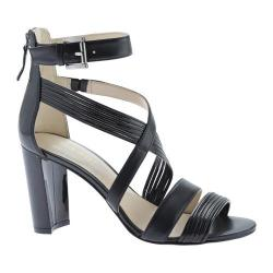 Women's Nine West Norita Strappy Sandal Black Leather/Synthetic