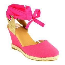 Women's Beston Emma-8 Wedge Sandal Coral Fabric