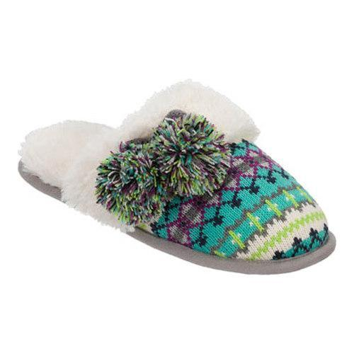 Dearfoams Fairisle Closed Toe Scuff with Memory Foam (Women's)