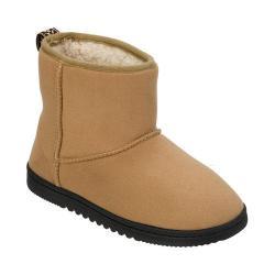 Women's Dearfoams Microsuede Boot Slipper with Memory Foam Desert