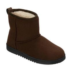 Women's Dearfoams Microsuede Boot Slipper with Memory Foam Espresso