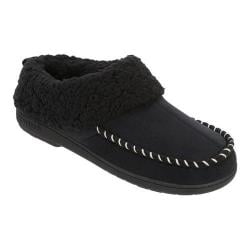 Women's Dearfoams Microsuede Clog Slipper with Memory Foam Black