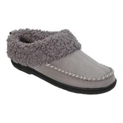 Women's Dearfoams Microsuede Clog Slipper with Memory Foam Medium Grey