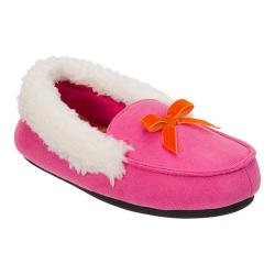 Girls' Dearfoams Microsuede Moccasin Slipper Ibis Rose