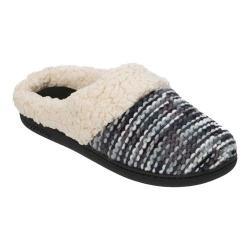 Women's Dearfoams Novelty Knit Clog Slipper with Memory Foam Black