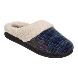 Women's Dearfoams Novelty Knit Clog Slipper with Memory Foam Blue