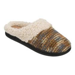 Women's Dearfoams Novelty Knit Clog Slipper with Memory Foam Brown