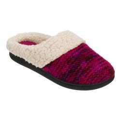 Women's Dearfoams Novelty Knit Clog Slipper with Memory Foam Purple