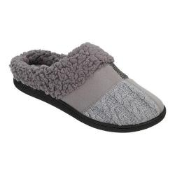 Women's Dearfoams Patchwork Clog Slipper with Memory Foam Medium Grey