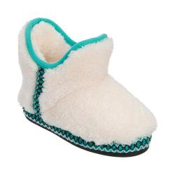 Girls' Dearfoams Pile Bootie Slipper with Fairisle Trim Muslin