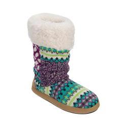 Women's Dearfoams Tall Patchwork Boot Slipper with Memory Foam Cool Combo