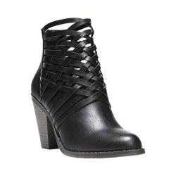Women's Fergalicious Weever Bootie Black Synthetic Leather