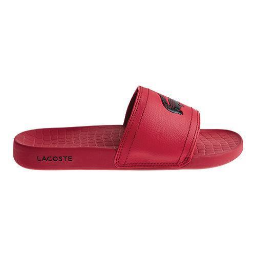 2c985b877 Shop Men s Lacoste Frasier Slide Sandal Red Black Synthetic - Free Shipping  On Orders Over  45 - Overstock - 12446256